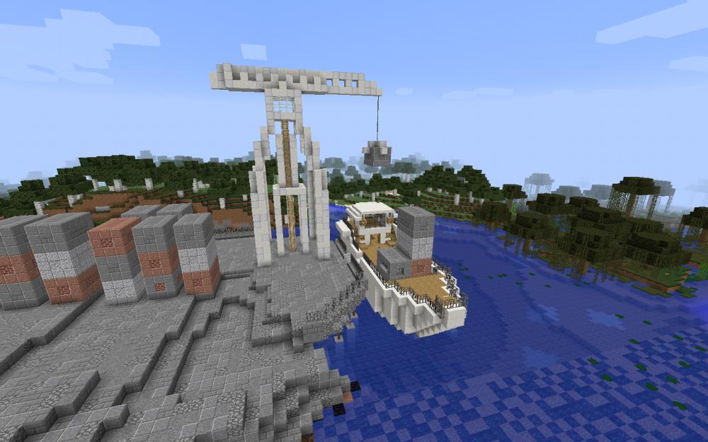 Containerhafen in Accra (Ghana) in Minecraft - Screenshot aus dem Projekt MineHandy