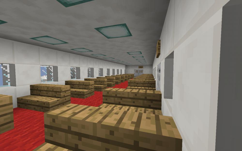 Innenansicht eines Flugzeugs in Minecraft - Screenshot aus dem Projekt MineHandy