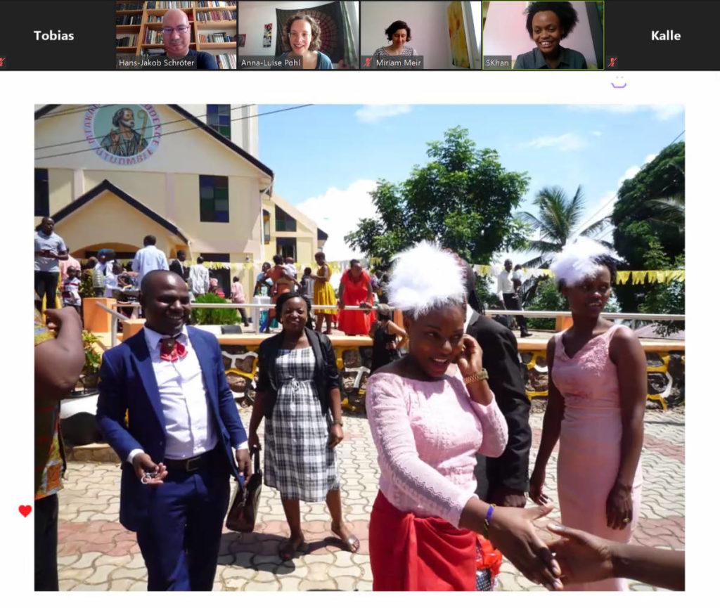 Screenshot von der Veranstaltung. Foto von Jackline Mwasekela.