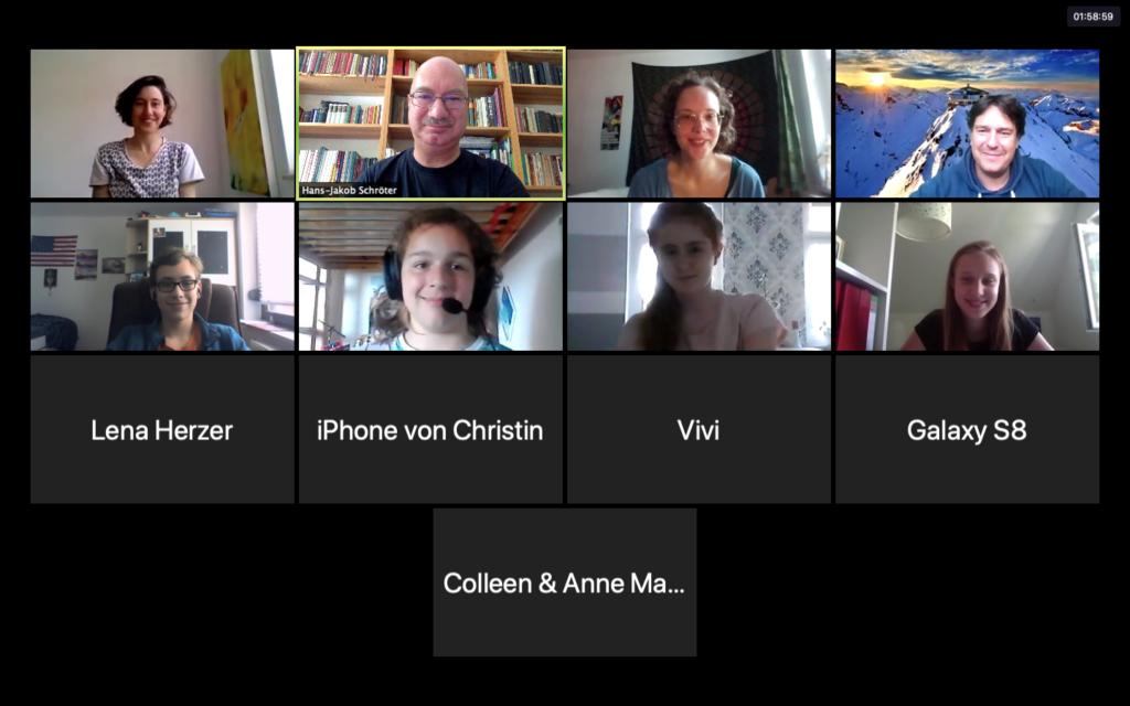 Screenshot einer digitalen Konfi-Stunde im Kirchspiel Dobien.
