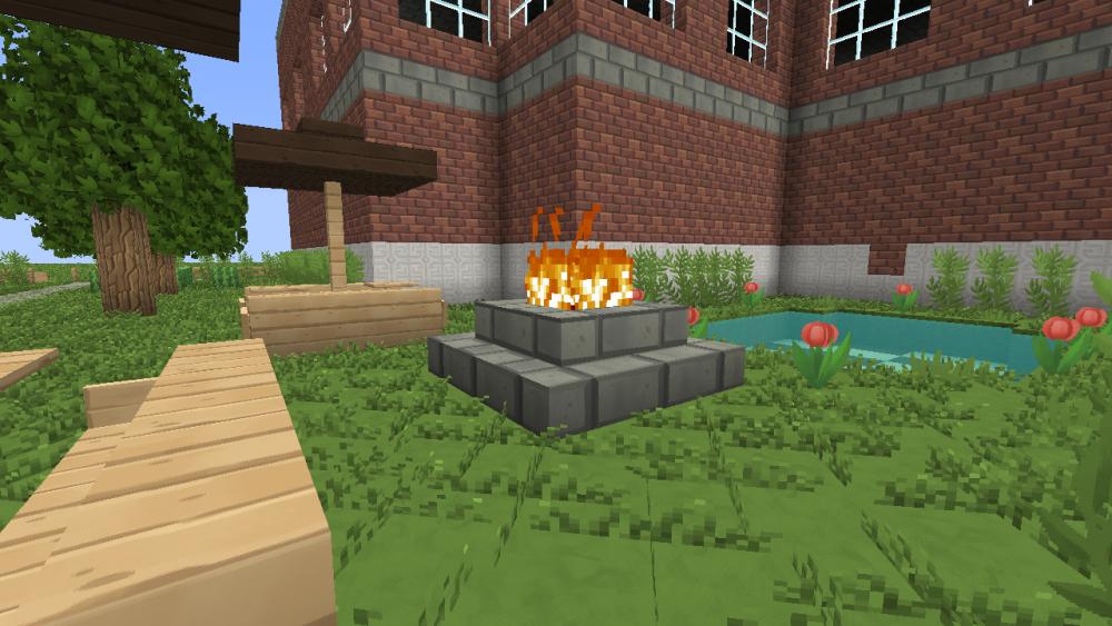 Lagerfeuer im Schulgarten
