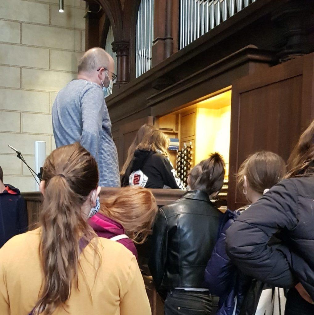 Orgel in der Konfi-Arbeit