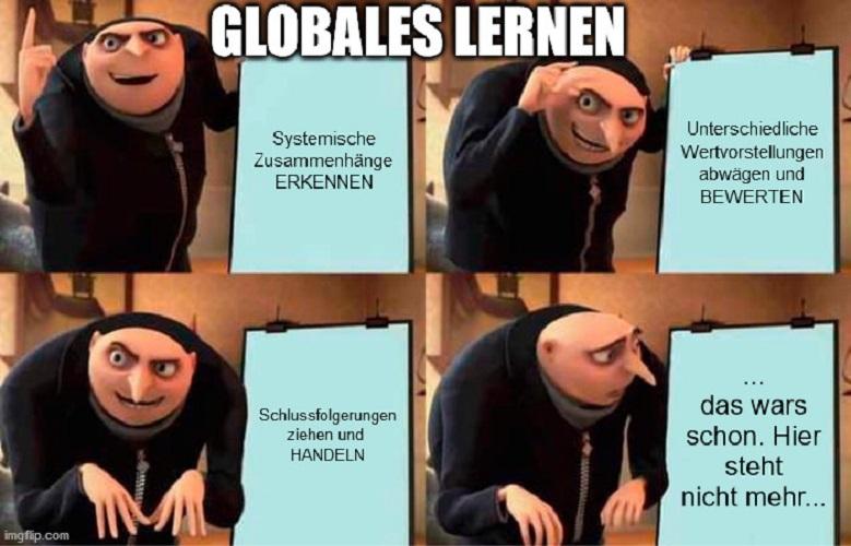 Meme zu den Kernkompetenzen des Globalen Lernens