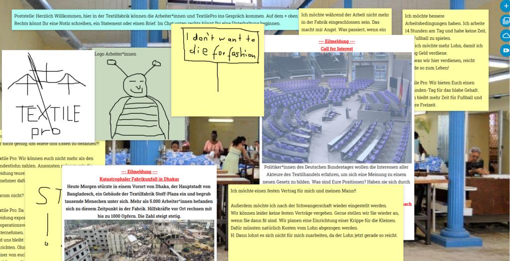 Screenshot des öffentlichen Raums in Deutschland mit dem Tool Pinup.