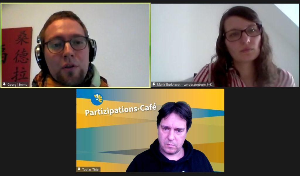 Gesprächsrunde beim Partizipations-Café am 1.3.21