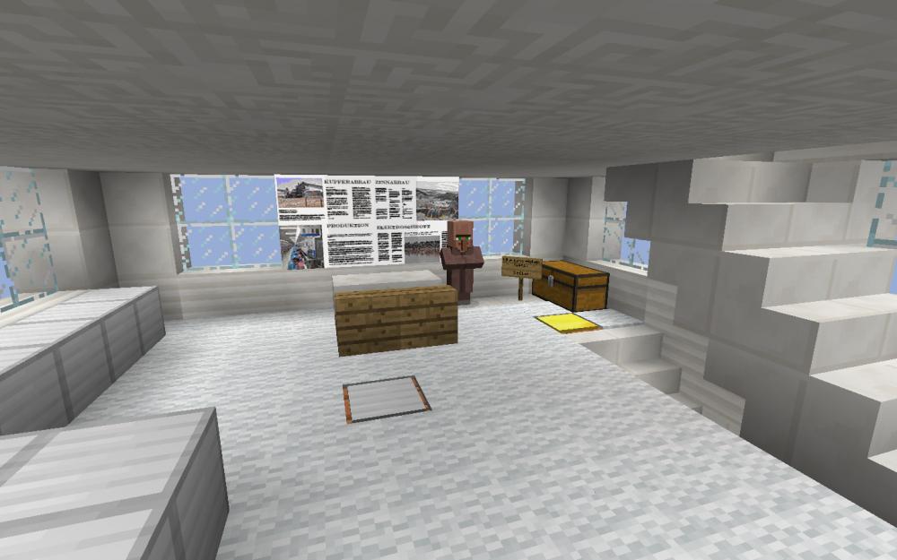 Büro des Zeitungsredakteurs - Screenshot aus dem Projekt MineHandy