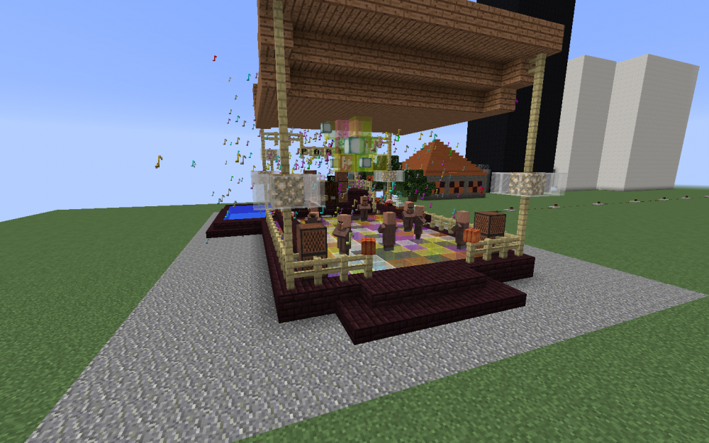 Partyzelt in Minecraft - Screenshot aus dem Projekt MineHandy