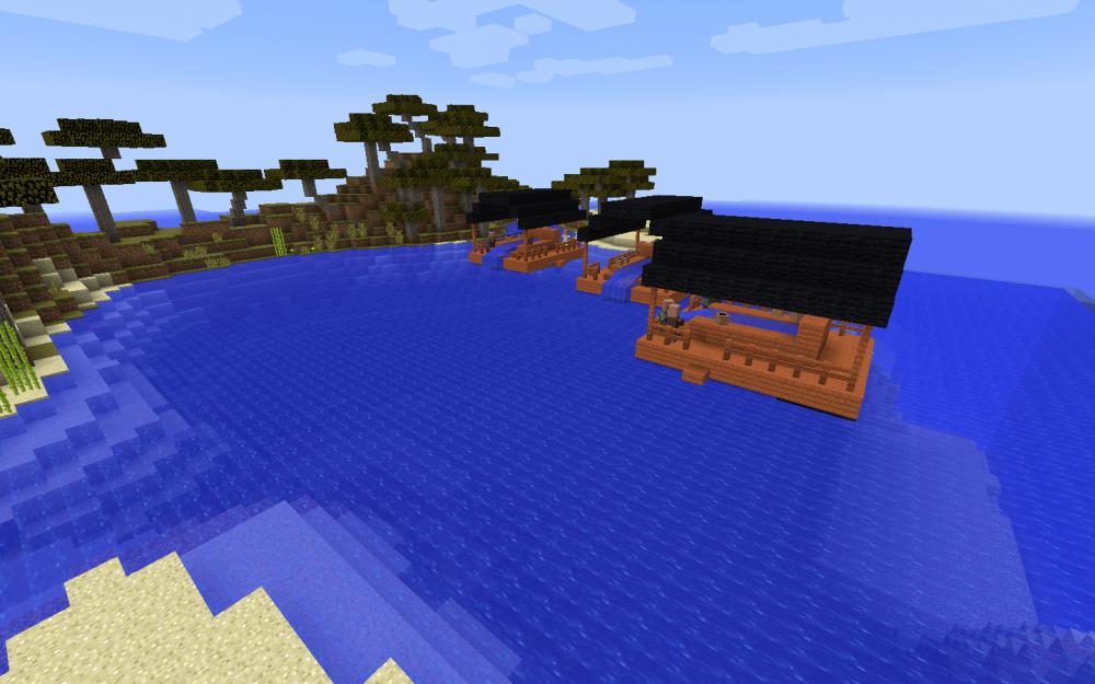Unterwasser-Zinnmine in Minecraft - Screenshot aus dem Projekt MineHandy